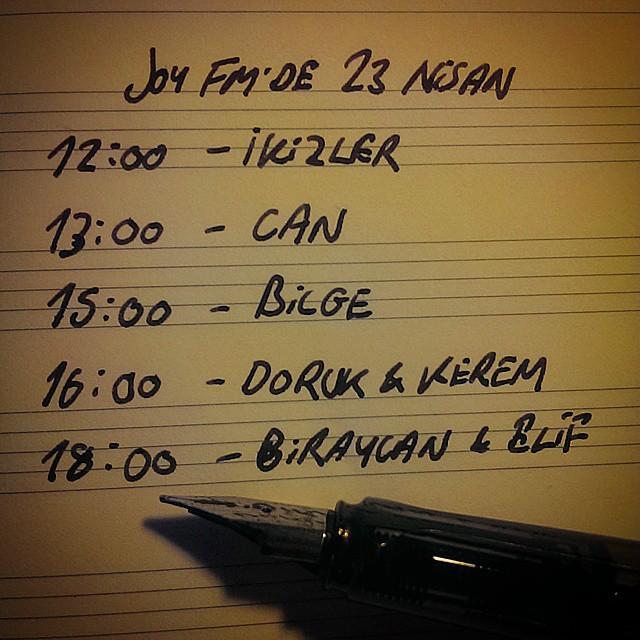 23 Nisan'da Joy FM'de... #joyfm #karnaval #23nisan #kidsontheradio #can #bilge…