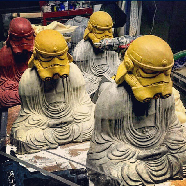 Old & wise #starwars #stormtroopers #republic #rebels #saga #darthvader #buddha…